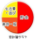 船橋|千葉|錦糸町の高収入風俗アルバイト【キャンパスサミットグループ】まなみの家計簿グラフ