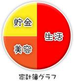 船橋|千葉|錦糸町の高収入風俗アルバイト【キャンパスサミットグループ】みくるの家計簿グラフ