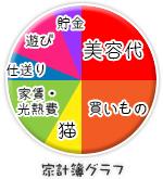 船橋|千葉|錦糸町の高収入風俗アルバイト【キャンパスサミットグループ】の家計簿グラフ